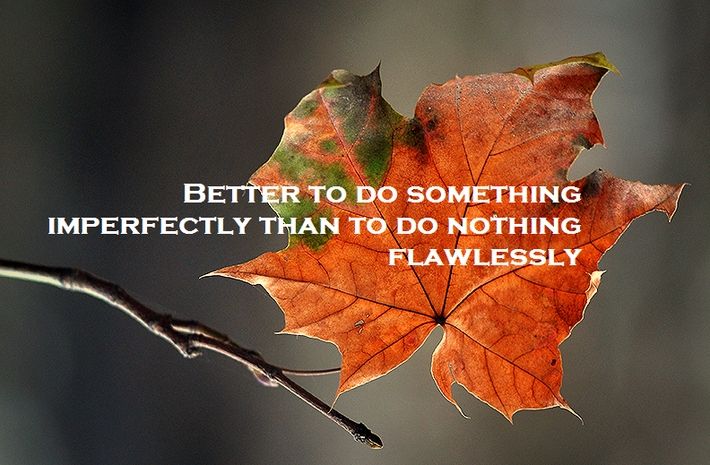 Better to do something imperfectly