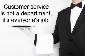 Customer service is not a department